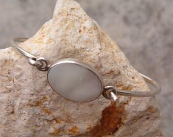 Bracelet, Vintage Mother of Pearl Mexico Sterling Silver, Vintage Jewelry, Sterling Silver Bracelet