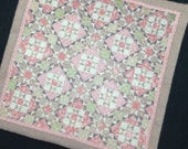 1:12 scale quilt  shabby country dollhouse blanket miniature