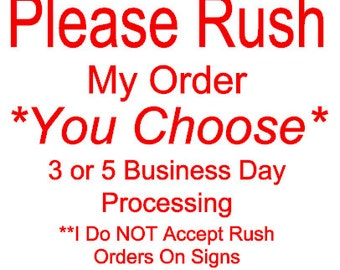 Rush My Order Processing Time