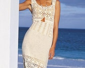 PDF pattern only - elegant summer crochet dress