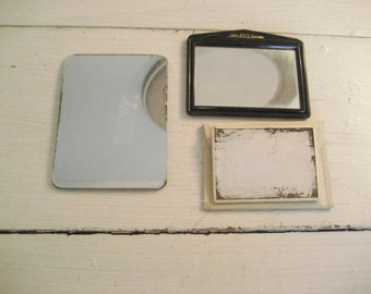 Set of 3 Vintage Small Purse Mirrors