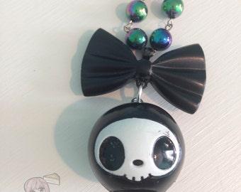 Skull Tokidoki Adios Bow Necklace