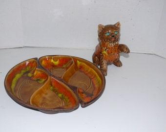 Majolica Serving Platters - Santa Anita Ware - California Pottery  1950s