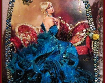 Baroque Lady ...Glitter paper Doll Form...CSST