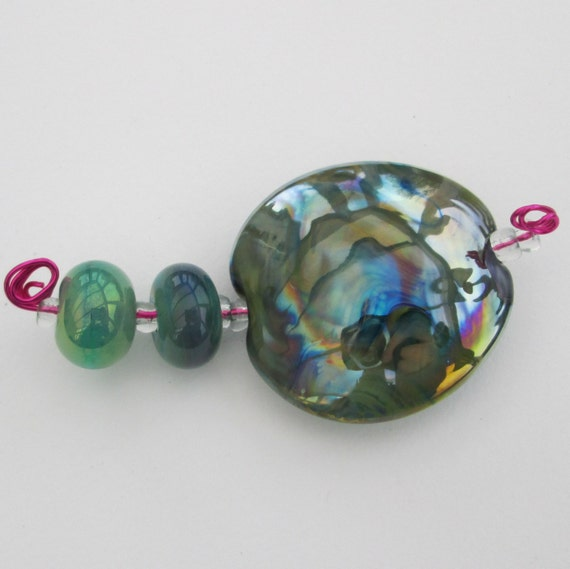 Items similar to lampwork glass beads art glass beads for Glass discs for crafts