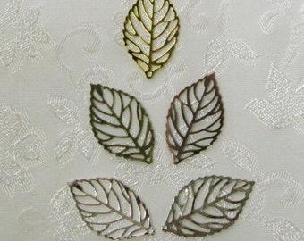 Leaf Filigree Mix You Choose Finish 15mm x 28mm 532