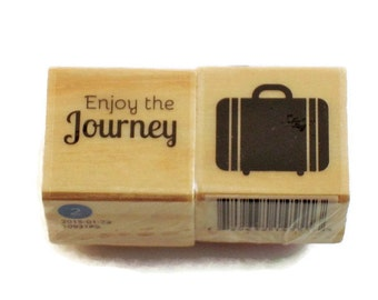 Mini  Rubber Stamp Set -  Enjoy the JOURNEY