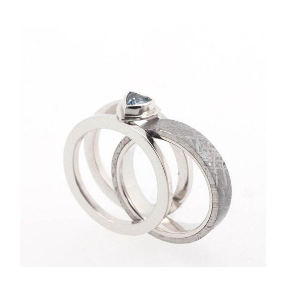 topaz and platinum ring guard engagement ring by