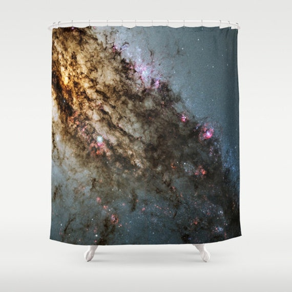 Star Formation Shower Curtain, Space Shower Curtain, Bathroom, Space Home Decor, Dark Shower Curtain, Stars Decor, Contemporary Decor, Sky