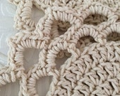 Cotton hand crochet doily hot pad trivet set of 2