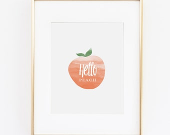 Hello Peach - Printable download