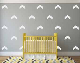 White Chevron Vinyl Wall Stickers Nursery Decal Pattern