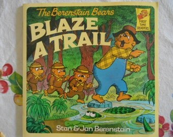 1987 The Berenstain Bears Blaze A Trail book Stan and Jan Berenstain First Time Readers