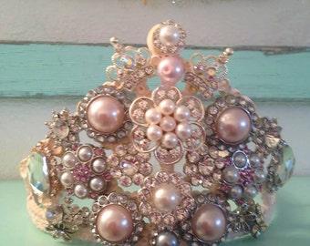 Antique style pink Tiara.