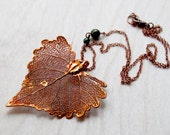Large Fallen Copper Cottonwood Leaf Necklace | Electroformed Jewelry | Copper Leaf Necklace | Nature Jewelry | REAL Cottonwood Leaf Necklace