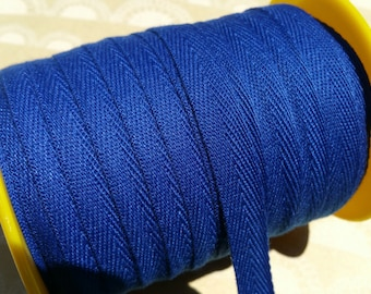 "Blue Twill Tape Trim - Sewing Bunting Shipping Packaging - Royal Deep Blue - 3/8"" Wide - 10 Yards"