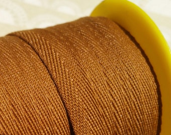 """Brown Twill Tape Trim - Sewing Bunting Shipping Packaging - 3/8"""" - 10 Yards"""