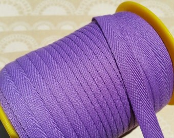 "Purple Twill Tape Trim - Sewing Bunting Shipping Packaging - 3/8"" - 10 Yards"