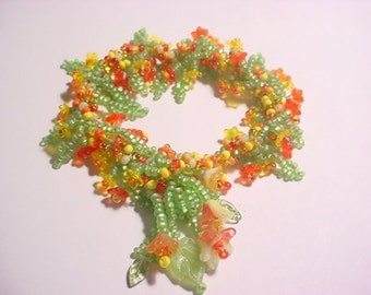 Yellow~Orange Vintage Flower Spiral Rope Bracelet Kit (Limited Edition)