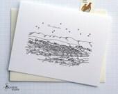 Fairbanks, Alaska - United States - City Skyline Series - Folded Cards (6)