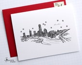 Austin, Texas - United States - City Skyline Series - Folded Cards (6)