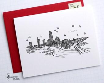 Austin, Texas - United States - City Skyline Series - Folded Cards (6)