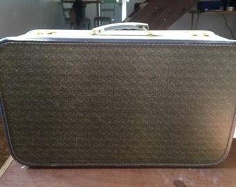 Vintage fabric suitcase