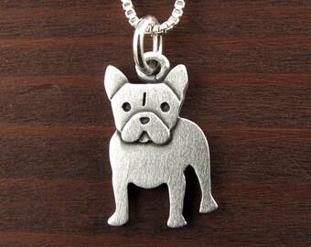 Tiny French Bulldog necklace / pendant