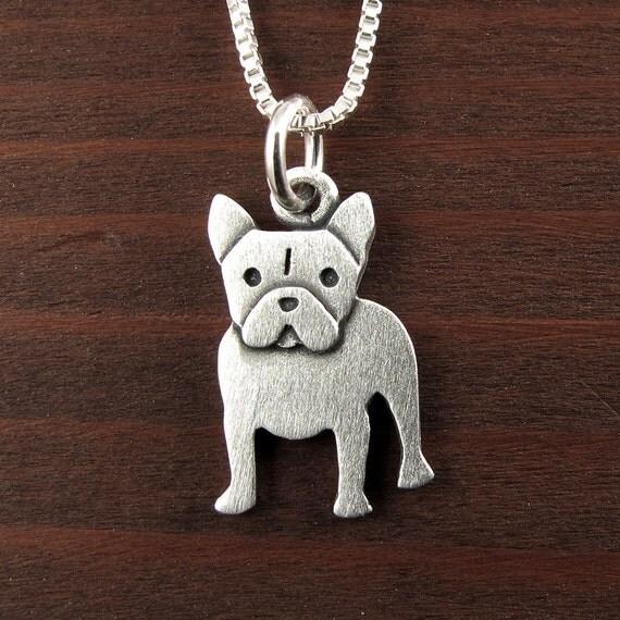 tiny french bulldog necklace pendant