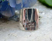 sterling silver be kind ring