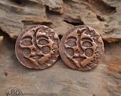 Copper Sun Moon Rounds (1 pair)