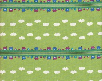 Clothworks Toy Poodle Little Houses Cotton Oxford - Half Yard