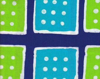 Clothworks Urban Landscapes Dominoes in Blue - Half Yard