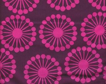 Windham Fabrics French Bull Raj Wheel in Purple - Half Yard