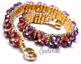 FlowerBox Bracelet Tutorial by Carole Ohl