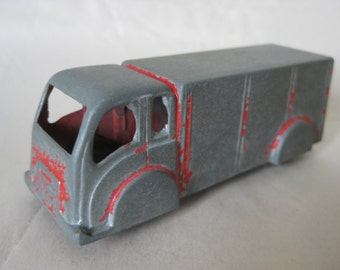 Shabby Truck Red Gray Vintage Metal Miniature Goodee Toy
