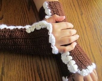 Crochet armwarmers, fingerless gloves