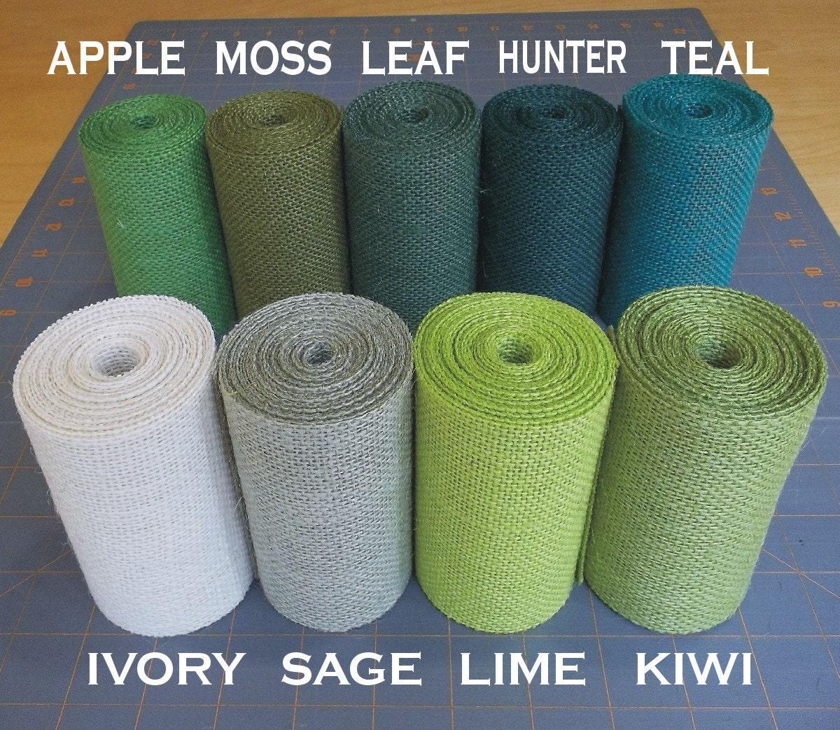 3 inch green burlap ribbon 3 yards for Green burlap ribbon