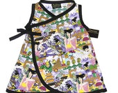 Purple Dress - Harajuku Clothing - Japanese Dress - Arcade -  Baby Dress - Punk Baby Dress - Japanese Anime - Dress - nb - 6m - 12m - 18m