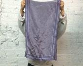 vintage 80s Calvin Klein silk scarf / periwinkle pastel lavender minimal print