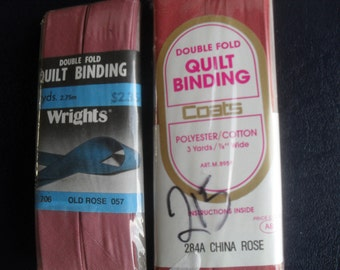 Quilt Binding Wright's Canary China Rose and Old Rose Crafts Sewing