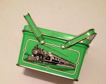 American Girl Kit Kittredge Green Lunch Box Tin Handkerchief