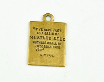 Mustard Seed Scripture charm, 15152