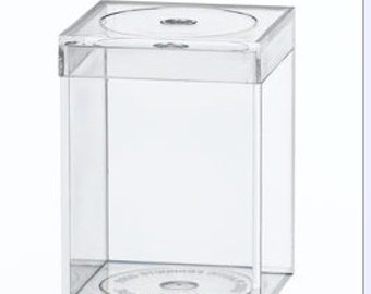 Plastic storage container flat top sold by 10 each