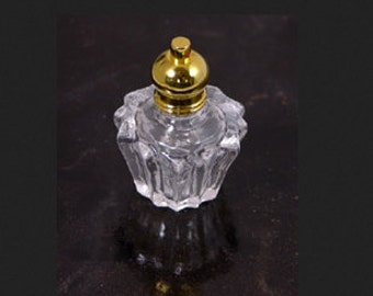 Small Glas Bottle with pendant hole in top of cap, each G929