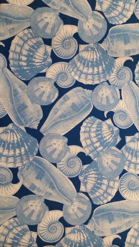 home decor fabric seashells nautical outdoor fabric 27 x54 large b
