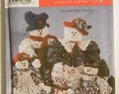Snowmen and Snow Women Faith Van Zanten Sewing Pattern Simplicity 7399 UNCUT