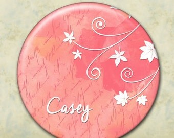 Personalized Pocket Mirror, Bridesmaid Gift, Shower Favor