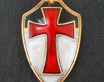 Templar, knights templar, masonic pendant, templar pendant, templar jewelry, knights, creed, templar shield, shield pendant, assassins
