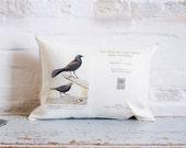 bird book pillows